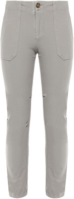 James Perse Cropped Stretch Cotton-twill Pants