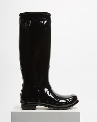 Hunter Women's Black Gumboots - Original Tall Wellington Boots - Women's - Size 5 at The Iconic