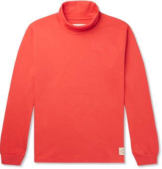 Holiday Boileau Mock-Neck Cotton-Jersey T-Shirt