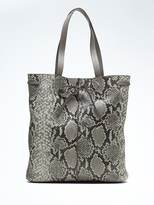 Banana Republic Portfolio Snake-Effect Leather Rechargeable Smart Tote