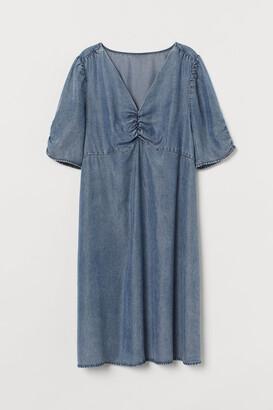 H&M MAMA Lyocell Denim Dress - Blue