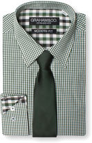 Graham And Co Graham & Co. Gingham Dress Shirt And Tie