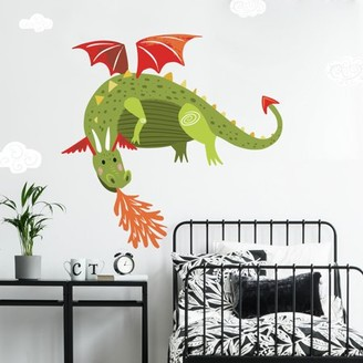 Room Mates Roommates Dragon Peel and Stick Giant Wall Decals