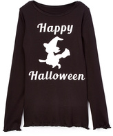 Beary Basics Black 'Happy Halloween' Witch Tee - Toddler & Girls