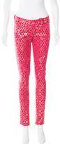 Balmain Geometric Print Skinny Pants