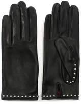 Agnelle Clou Rock Burgundy Leather Studded Gloves