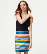 LOFT Striped Shift Skirt