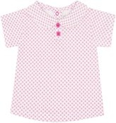 Jo-Jo JoJo Maman Bebe Peter Pan Collar T Shirt (Baby) - Pink Ditsy Print-12-18 Months