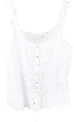 LoveShackFancy Luanne sleeveless blouse