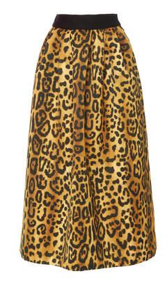 ADAM by Adam Lippes Printed Duchess Satin Ball Skirt