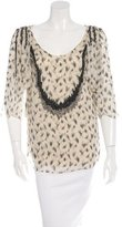 3.1 Phillip Lim Bead Embellished Silk Blouse