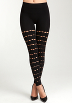 Bebe Keyhole Stripe Legging