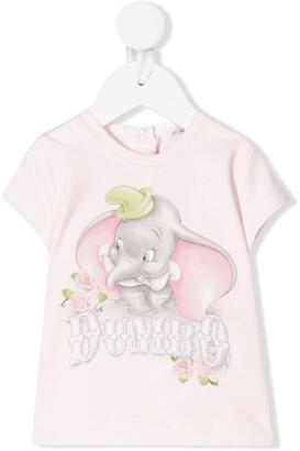 MonnaLisa Dumbo print short sleeve T-shirt