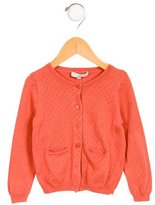 Caramel Baby & Child Girls' Perforated Knit Cardigan