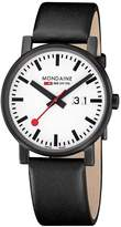 Mondaine Men's A627.30303.61SBB Evo Black and Analog Display Quartz Black Watch