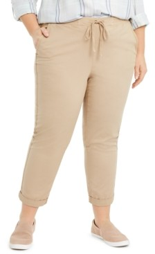 Style&Co. Style & Co Plus Size Twill Tape Utility Pants, Created for Macy's