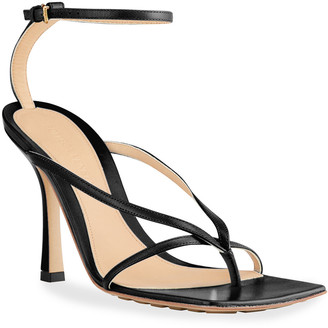 Bottega Veneta Square-Toe Thong Sandals