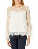 Thumbnail for your product : Taylor & Sage Women's Allover Lace Cold Shoulder Top