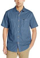 G.H. Bass Men's Short Sleeve Explorer Solid Trekking Shirt