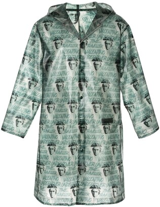 Undercover Clockwork Orange all-over print raincoat