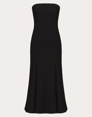Valentino Stretch Double Crepe Wool Dress Women Black Wool 98%, Elastane 1% 44