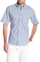 Tailorbyrd Nevada Falls Short Sleeve Print Trim Fit Woven Shirt