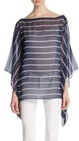 St. John Striped Silk Top
