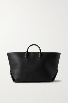 KHAITE Envelope Pleat Large Textured-leather Tote - Black
