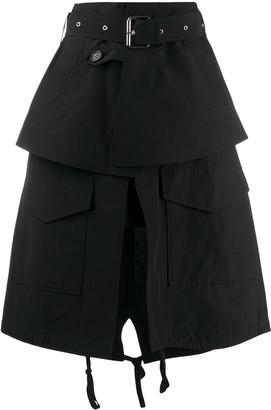 Plan C A-line parka skirt
