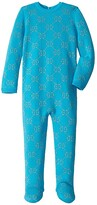 Gucci Kids Double G Long Sleeve All-In-One One-Piece (Infant) (Turquoise/Gold) Girl's Jumpsuit & Rompers One Piece