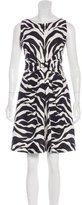 Kate Spade Zebra Print Mini Dress