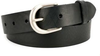 "Village Leathers Classic 1 1/4"" Black Leather Belt"