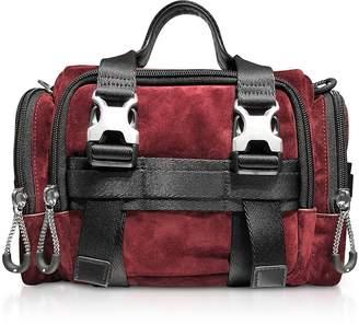 Alexander Wang Burgundy Suede Surplus Duffle Bag