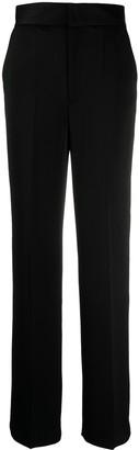 BA&SH Amie satin wide-leg trousers