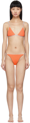 Heron Preston Orange Triangle Bikini