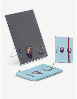 Seletti I Love You notebook, mirror and cosmetic case set
