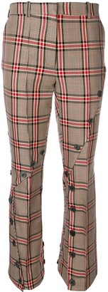 Rokh Checked Button Trousers