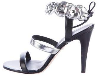 Chanel 2016 Camellia Leather Sandals w/ Tags