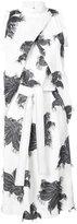 Derek Lam Mock Neck Foldover Dress With Ruffle Detail