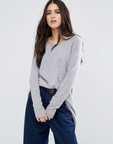 Subtle Luxury Cashmere Cozy Swing Sweater In Fitigue