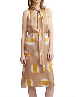 Theory Halter Scarf Print Dress