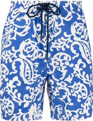 Etro Paisley Print Drawstring Swim Shorts