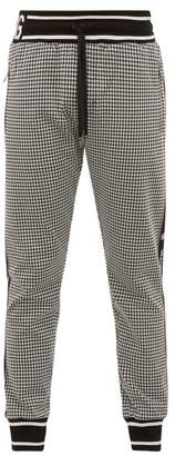 Dolce & Gabbana Houndstooth-knit Track Pants - Mens - Black White