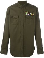 DSQUARED2 military-style casual shirt