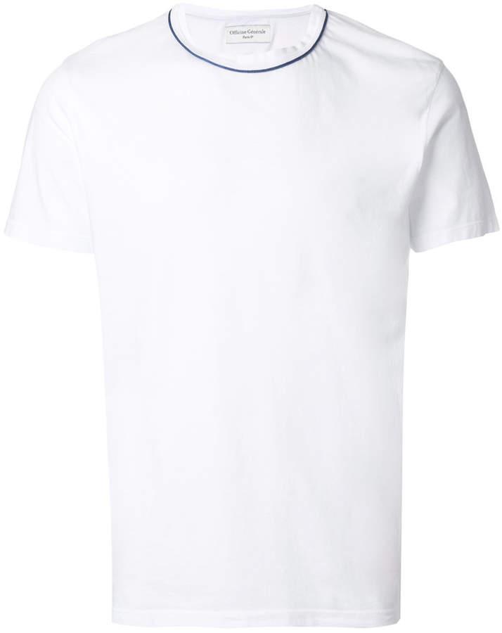 Officine Generale contrast trim T-shirt