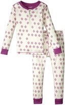 Hatley Snowflakes Henley Pajama Set (Toddler/Kid) - White - 3