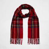 River Island Womens Red tartan check scarf