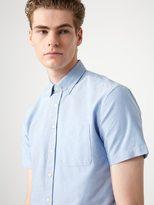 Frank + Oak The Jasper Oxford Short-Sleeve Shirt in Light Blue