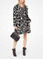 Michael Kors Leopard Faux-Fur Jacquard Coat