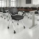 Corporate Mesh Back Fabric Padded Folding Chair Bush Business Furniture